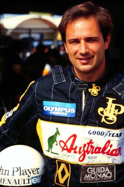 1985 Brazilian Grand Prix.Jacarepagua, Rio de Janeiro, Brazil.5-7 April 1985.Elio de Angelis (Team Lotus) 3rd position.World Copyright - LAT Photographic