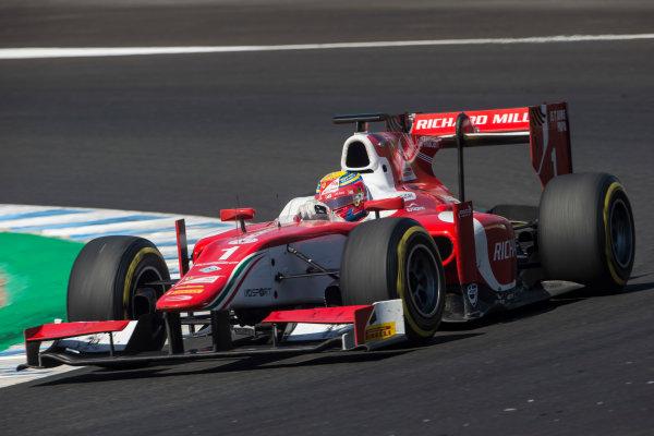 2017 FIA Formula 2 Round 10. Circuito de Jerez, Jerez, Spain. Sunday 8 October 2017. Charles Leclerc (MCO, PREMA Racing).  Photo: Andrew Ferraro/FIA Formula 2. ref: Digital Image _FER3588