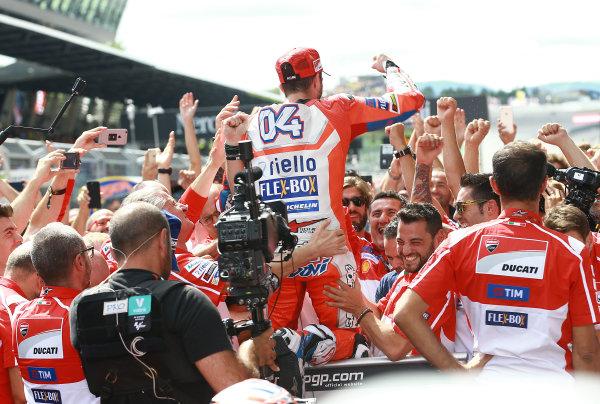 2017 MotoGP Championship - Round 11 Spielberg, Austria Sunday 13 August 2017 Race winnner Andrea Dovizioso, Ducati Team World Copyright: Gold and Goose / LAT Images ref: Digital Image 686856