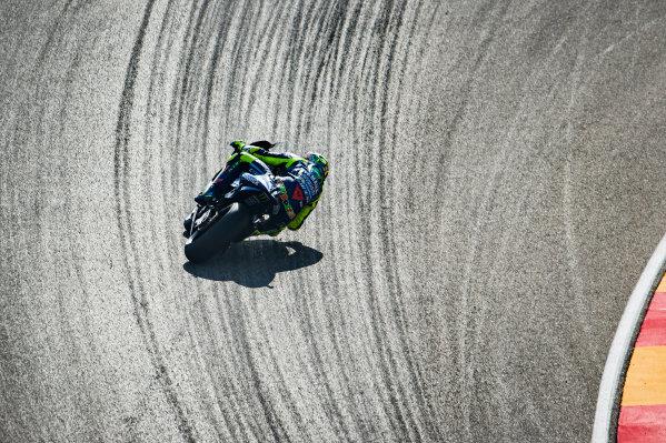 2017 MotoGP Championship - Round 14 Aragon, Spain. Saturday 23 September 2017 Valentino Rossi, Yamaha Factory Racing World Copyright: Gold and Goose / LAT Images ref: Digital Image 694096