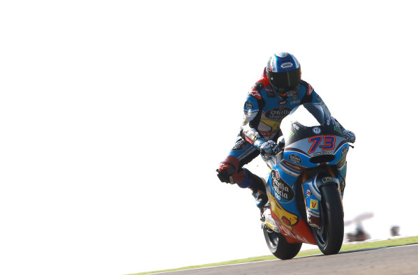 2017 Moto2 Championship - Round 14 Aragon, Spain. Saturday 23 September 2017 Alex Marquez, Marc VDS World Copyright: Gold and Goose / LAT Images ref: Digital Image 694289