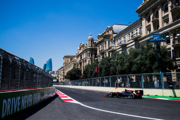 2017 FIA Formula 2 Round 4. Baku City Circuit, Baku, Azerbaijan. Friday 23 June 2017. Johnny Cecotto Jr. (VEN, Rapax)  Photo: Zak Mauger/FIA Formula 2. ref: Digital Image _54I9353
