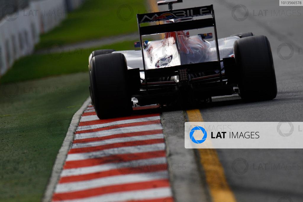 Albert Park, Melbourne, Australia 25th March 2011. Sebastien Buemi, Toro Rosso STR6 Ferrari. Action.  World Copyright: Glenn Dunbar/LAT Photographic ref: Digital Image _G7C3280