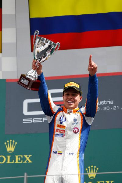 2015 GP3 Series Round 2. Red Bull Ring, Spielberg, Austria. Sunday 21 June 2015. Oscar Tunjo (COL, Trident)  Photo:  Alastair Staley/GP3 Media Service ref: Digital Image _R6T4953