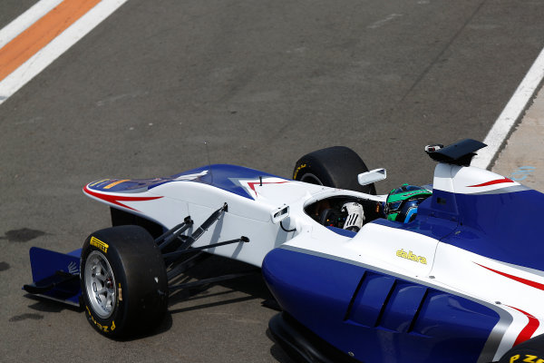 2015 GP3 Series Test 2 - Circuit Ricardo Tormo, Valencia, Spain. Friday 10 April 2015. Kevin Korjus (EST, Koiranen GP)  Photo: Sam Bloxham/GP3 Series Media Service. ref: Digital Image _SBL5313