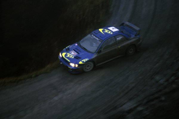 1997 World Rally Championship.Network Q RAC Rally, Great Britain. 23-25 November 1997.Colin McRae/Nicky Grist (Subaru Impreza WRC), 1st position.World Copyright: LAT PhotographicRef: 35mm transparency 97RALLY11