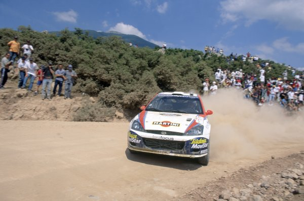2002 World Rally Championship.Acropolis Rally, Greece. 14-16 June 2002.Colin McRae/Nicky Grist (Ford Focus WRC), 1st position.World Copyright: LAT PhotographicRef: 35mm transparency 02RALLY07