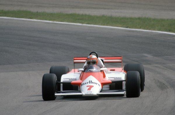 1981 Italian Grand PrixMonza, Italy. 11-13 September 1981.John Watson (McLaren MP4/1-Ford Cosworth), retired. Ref - 81ITA02.World Copyright - LAT Photographic