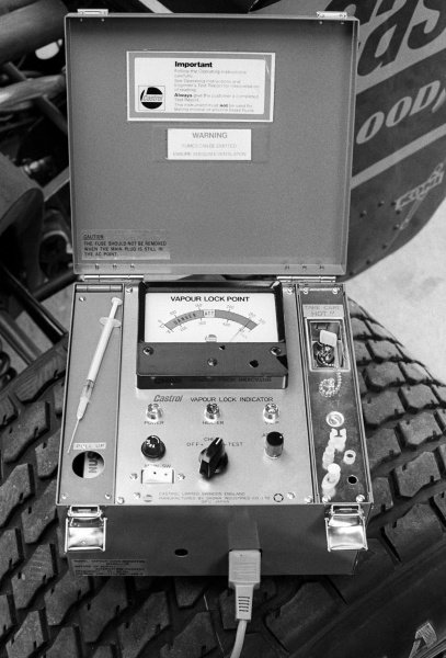 A Castrol Vapour Lock Indicator used by the Wolf team.