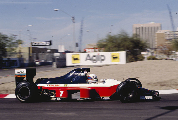 1991 United States Grand Prix.Phoenix, Arizona, USA.8-10 March 1991.Martin Brundle (Brabham BT59Y Yamaha) 11th position.Ref-91 USA 40.World Copyright - LAT Photographic