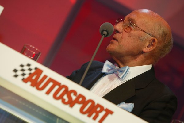 2003 AUTOSPORT AWARDS, The Grosvenor, London. 7th December 2003.Stirling Moss.Photo: Peter Spinney/LAT PhotographicRef: Digital Image only
