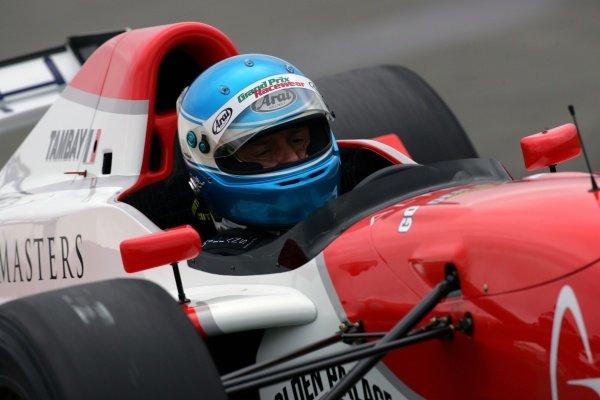 Patrick Tambay (FRA). Grand Prix Masters Testing, Day One, Silverstone, England, 26 October 2005. DIGITAL IMAGE