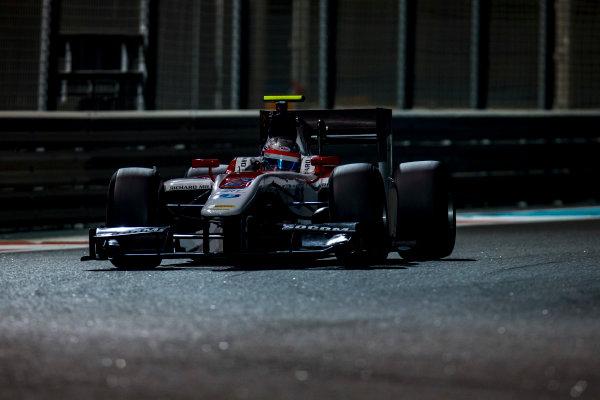 2016 GP2 Series Test 3 Yas Marina Circuit, Abu Dhabi, United Arab Emirates. Friday 2 December 2016. Alexander Albon (THA, ART Grand Prix)  Photo: Zak Mauger/GP2 Series Media Service. ref: Digital Image _L0U4754