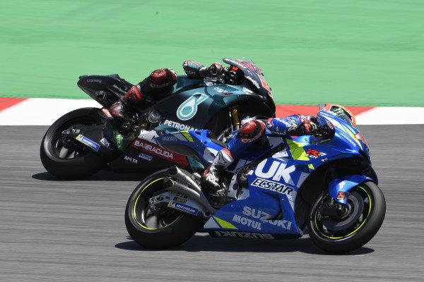 Alex Rins, Team Suzuki MotoGP, Fabio Quartararo, Petronas Yamaha SRT.