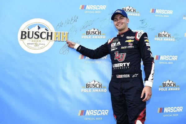 #24: William Byron, Hendrick Motorsports, Chevrolet Camaro Liberty Patriotic wins the pole