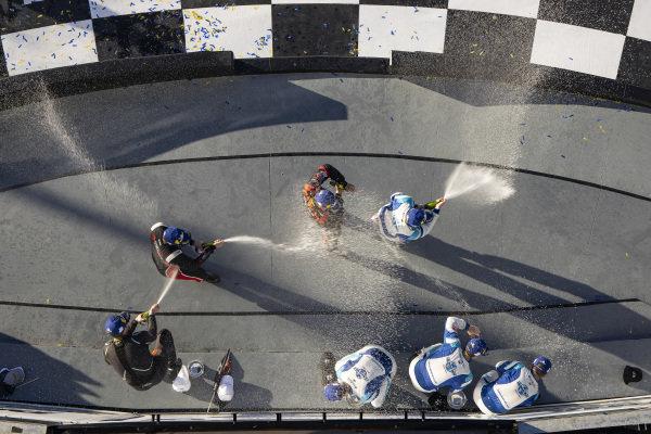 TCR Podium, #37 LA Honda World Racing Honda Civic TCR, TCR: Tom O'Gorman, Shelby Blackstock, #73 LA Honda World Racing Honda Civic TCR, TCR: Mike LaMarra, Mat Pombo, #23 Fast MD Racing Audi RS3 LMS TCR, TCR: Nick Galante, James Vance, Jared Salinsky, Champagne