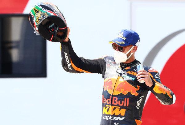 Race winner Brad Binder, Red Bull KTM Factory Racing.