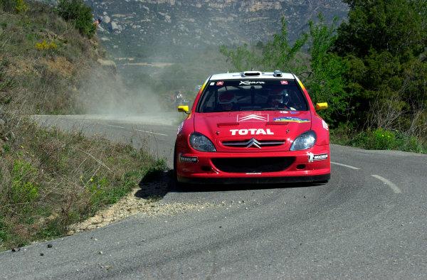 2002 World Rally ChampionshipRally Catalunya, 21st-24th March 2002.Philippe Bugalski on Stage 3.Photo: Ralph Hardwick/LAT