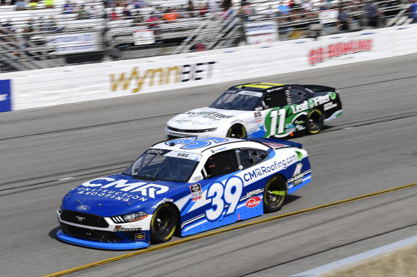 #39: Ryan Sieg, RSS Racing, Ford Mustang CMR Construction and Roofing / A-Game, #11: Justin Haley, Kaulig Racing, Chevrolet Camaro LeafFilter Gutter Protection