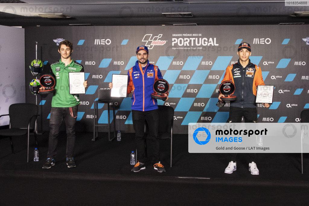 Remy Gardner, SAG Racing Team, Miguel Oliveira, Red Bull KTM Tech 3, Raul Fernandez, Red Bull KTM Ajo