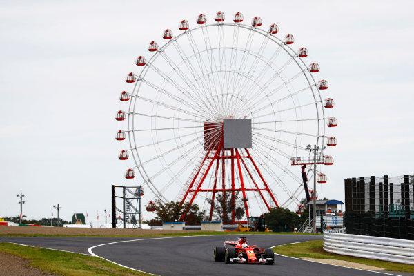 Suzuka Circuit, Japan. Saturday 07 October 2017. Sebastian Vettel, Ferrari SF70H. World Copyright: Steven Tee/LAT Images  ref: Digital Image _O3I6799