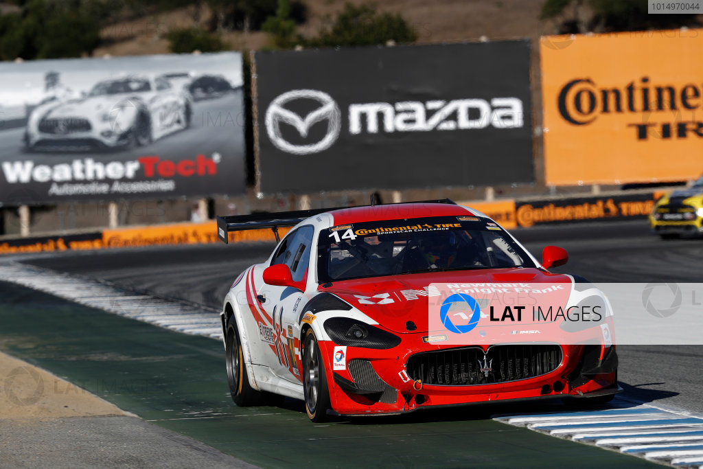 IMSA Continental Tire SportsCar Challenge Mazda Raceway Laguna Seca 240 Mazda Raceway Laguna Seca Monterey, CA USA Saturday 23 September 2017 14, Maserati, Maserati GT4, GS, Memo Gidley, Cavan O'Keefe, Michael McAleenan World Copyright: Michael L. Levitt LAT Images