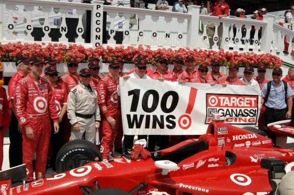 4-7 July, 2013, Pocono, Pennsylvania USA Target Chip Ganassi Racing celebrates 100 wins ©2013, Gregg Feistman LAT Photo USA .