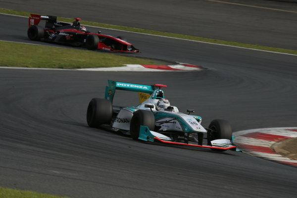 2014 Super Formula Series. Fuji, Japan. 17th - 18th May 2014. Rd 2. Race 2 - Winner Andre Lotterer ( #36 PETRONAS TOM'S SF14 ) action World Copyright: Yasushi Ishihara / LAT Photographic. Ref: 2014SF_Rd2_018.JPG