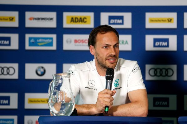 2017 DTM Round 2 Lausitzring, Germany. Friday 19 May 2017. Press Conference, Gary Paffett, Mercedes-AMG Team HWA, Mercedes-AMG C63 DTM World Copyright: Alexander Trienitz/LAT Images ref: Digital Image 2017-DTM-R2-ESL-AT2-0783