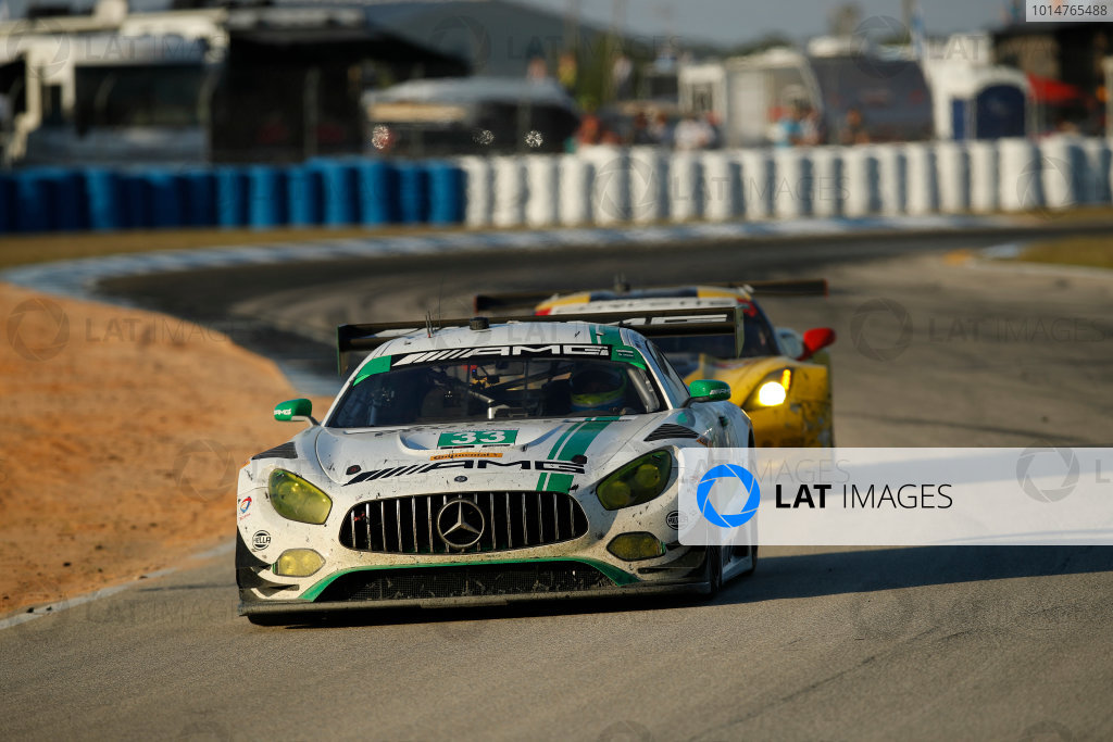 2017 IMSA WeatherTech SportsCar Championship Mobil 1 Twelve Hours of Sebring Sebring International Raceway, Sebring, FL USA Saturday 18 March 2017 33, Mercedes, Mercedes AMG GT3, GTD, Ben Keating, Jeroen Bleekemolen, Mario Farnbacher World Copyright: Michael L. Levitt/LAT Images ref: Digital Image levitt_seb_0317-26231