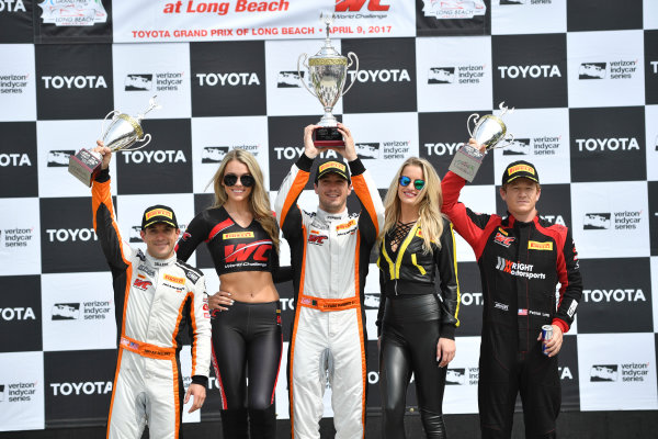 2017 Pirelli World Challenge Toyota Grand Prix of Long Beach Streets of Long Beach, CA USA Sunday 9 April 2017 Alvaro Parente, Bryan Sellers, Patrick Long World Copyright: Richard Dole/LAT Images ref: Digital Image RD_LB17_488