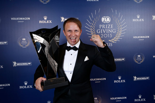 2015 FIA Prize Giving Paris, France Friday 4th December 2015 Petter Solberg, portrait  Photo: Copyright Free FOR EDITORIAL USE ONLY. Mandatory Credit: FIA / Jean Michel Le Meur  / DPPI ref: _ML23409