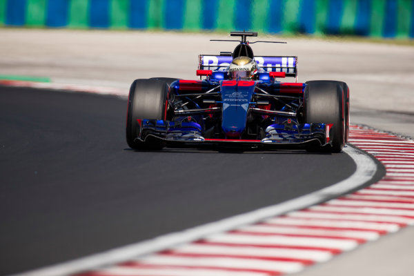 Hungaroring, Budapest, Hungary.  Tuesday 01 August 2017. Sean Gelael, Toro Rosso STR12 Renault. World Copyright: Joe Portlock/LAT Images  ref: Digital Image _R3I0370.CR2