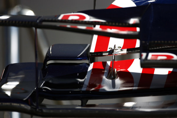 Red Bull Racing RB6 front wing detail. Formula One World Championship, Rd 14, Italian Grand Prix, Preparations, Monza, Italy, Thursday 9 September 2010.