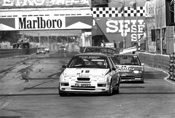 Andy Rouse (GBR) Andy Rouse Engineering, Ford Sierra RS 500 Cosworth. Macau Guia Race for Touring Cars, Macau, Hong Kong, 26-27 November 1988.
