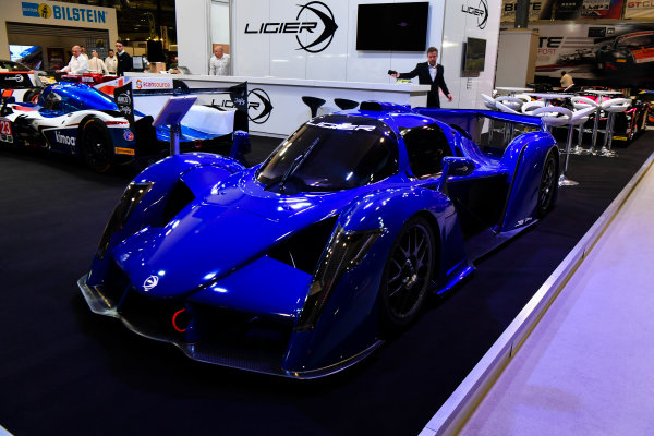 Autosport International Exhibition. National Exhibition Centre, Birmingham, UK. Thursday 11th January 2017. The Ligier stand.World Copyright: Mark Sutton/Sutton Images/LAT Images Ref: DSC_6955