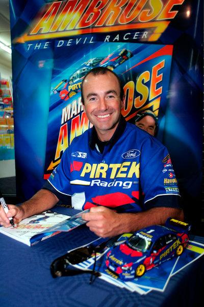 2004 Australian V8 SupercarsSymmons Plain Raceway, Tasmania. November 14th.Marcos Ambrose (Ford Falcon BA). Portrait.World Copyright: Mark Horsburgh/LAT Photographicref: Digital Image Only