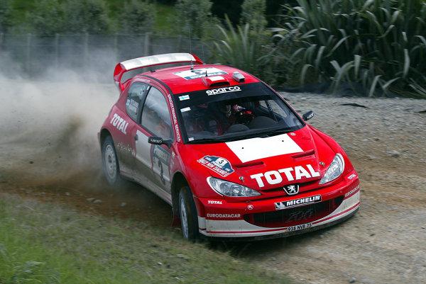 2003 FIA World Rally Champs. Round Four, New Zealand, 10th - 13th April 2003 Harri Rovanpera, Peugeot, action. World Copyright: McKlein/LAT