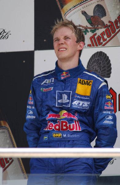 2003 DTM Championship Lausitz, Germany. 6th - 8th June 2003Mattias Ekstrom, 3rd position, podium.World Copyright: Andre Irlmeier/LAT Photographic