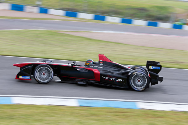 FIA Formula E Test Day, Donington Park, UK.  3rd - 4th July 2014.  Nick Heidfeld, Venturi Grand Prix. Photo: Malcolm Griffiths/FIA Formula E ref: Digital Image F80P6373