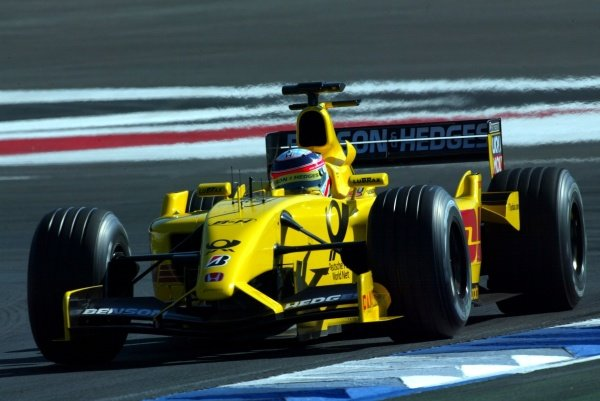 Takuma Sato (JPN) Jordan Honda EJ12.German Grand Prix, Hockenheim, Germany, 28 July 2002.DIGITAL IMAGE