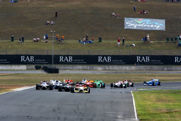 04.02 2007 Eastern Creek, Australia, Nico Hülkenberg, Driver of A1Team Germany, leads at the start of the race - A1GP World Cup of Motorsport 2006/07, Round 7, Eastern Creek, Sunday Race 1 - Copyright A1GP - Free for editorial usage