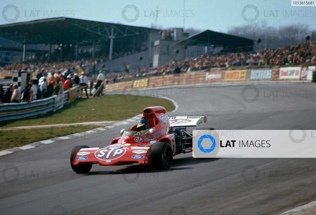 Brands Hatch, England. 19th March 1972.  Ronnie Peterson (March 721X-Ford Cosworth), 11th position.  Ref: 72ROC05. World Copyright: LAT Photographic