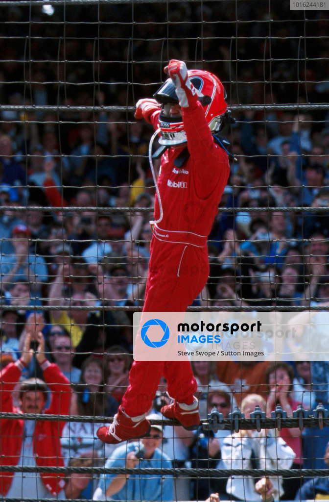 Helio Castroneves (BRA) took victory for Penske in the 85th Indy 500Indianapolis 500 - Indianapolis, USA - 27 May 2001BEST IMAGE