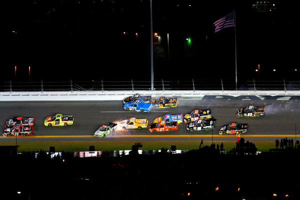 21-22 February, 2013, Daytona Beach, Florida USA crash.(c)2013, Russell LaBounty LAT Photo USA .
