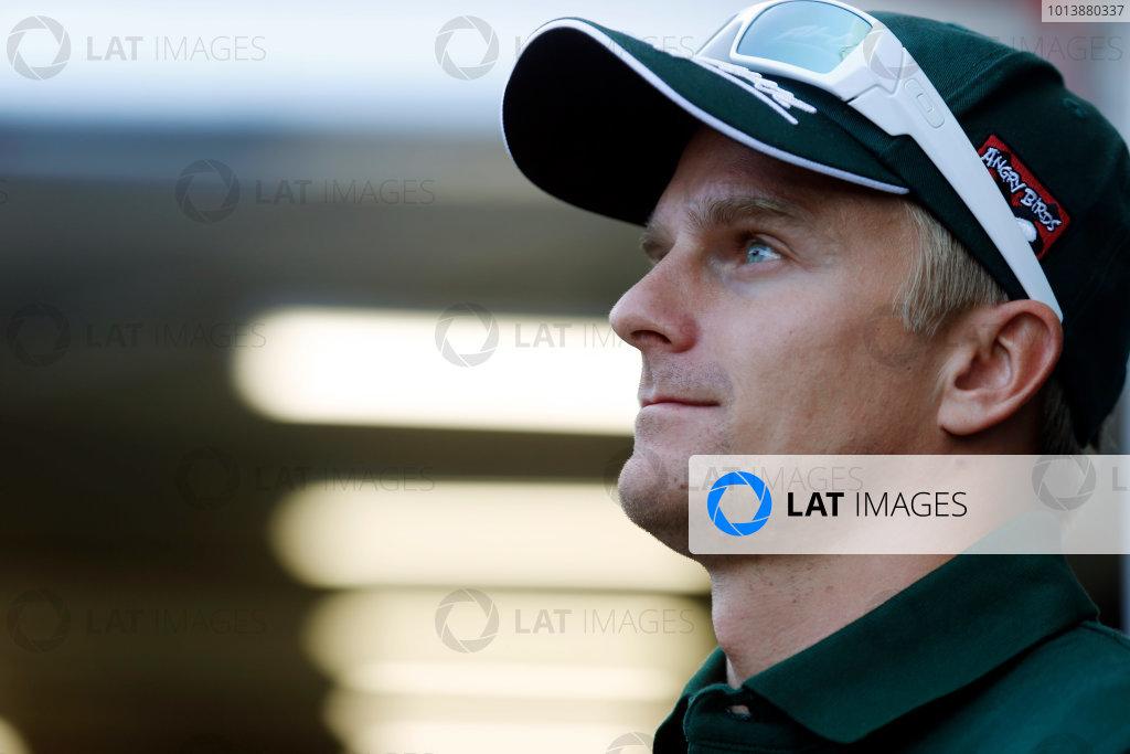 Interlagos, Sao Paulo, Brazil. Thursday 22nd November 2012. Heikki Kovalainen, Caterham F1.  World Copyright: Charles Coates/LAT Photographic ref: Digital Image _N7T3458