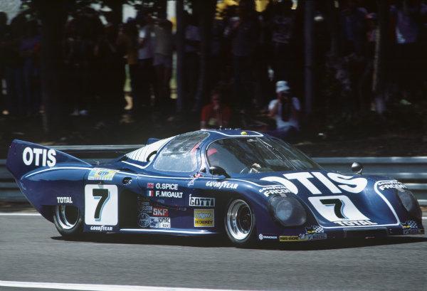 1981 Le Mans 24 Hours. Le Mans, France. 13th - 14th June 1981. Francois Migault / Gordon Spice (Rondeau M379C Ford), 3rd position, action.  World Copyright: LAT Photographic. Ref: 81LM16.