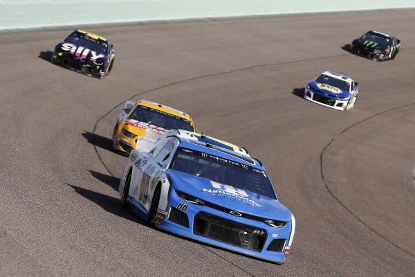 #8: Daniel Hemric, Richard Childress Racing, Chevrolet myblu and #14: Clint Bowyer, Stewart-Haas Racing, Ford Mustang Rush Truck Centers / Haas CNC