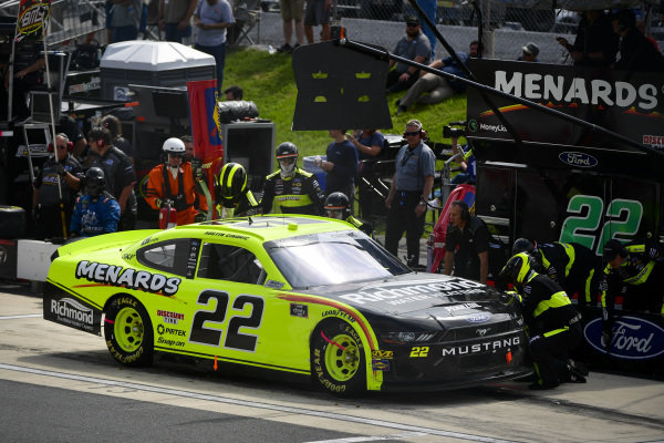 #22: Austin Cindric, Team Penske, Ford Mustang Menards/Richmond makes a pit stop, Sunoco