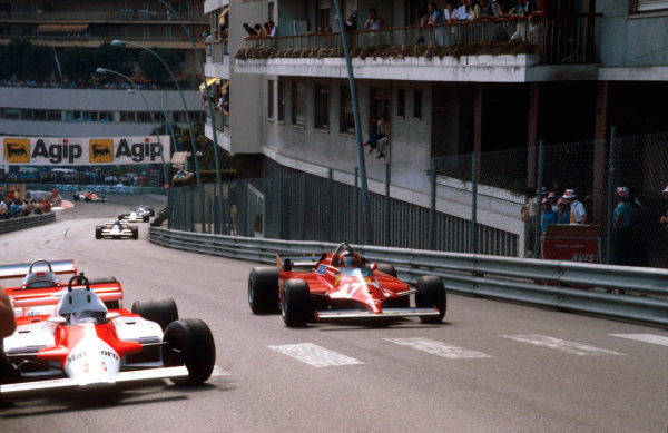 1981 Monaco Grand Prix. Monte Carlo, Monaco. 28-31 May 1981. Gilles Villeneuve (Ferrari 126CK) 1st position at Beau Rivage. Ref-81MON43. World Copyright - LAT Photographic